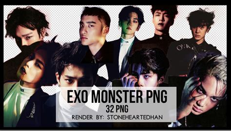 exo wallpaper pack exo monster png pack by stoneheartedhan on deviantart