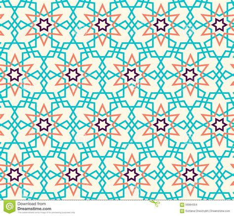 modern islamic pattern vector tangled pattern based on traditional islam pattern stock