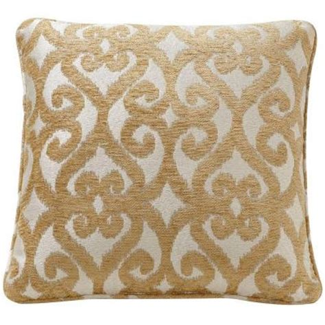 Home Depot Pillows by Home Decorators Collection Scroll 18 In Gold Decorative