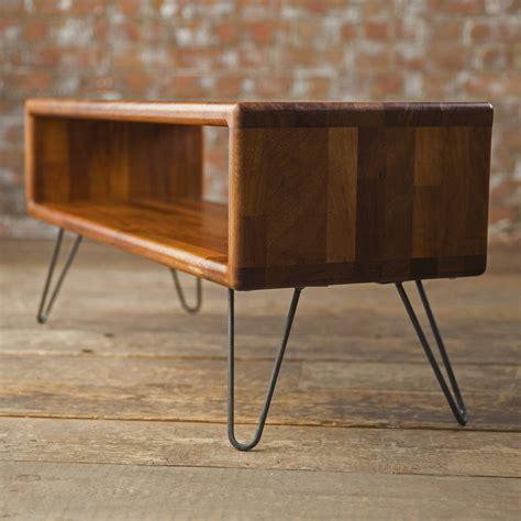 mid century modern tv stand iroko midcentury modern hairpin leg tv stand by biggs