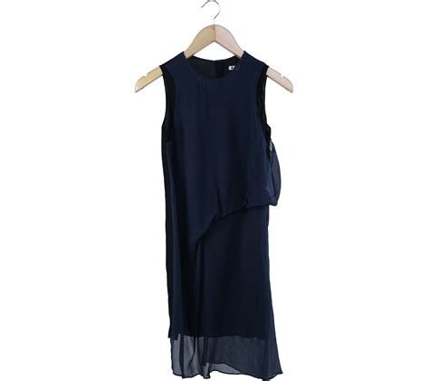 Baju Mutia Black acne studios blue and black midi dress