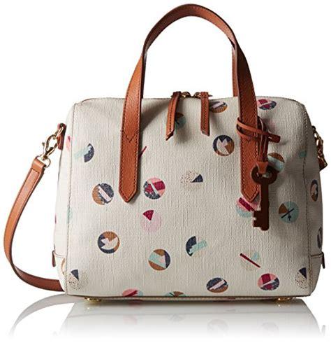 Tas Fossil Sydney Satchel Multi White fossil sydney satchel handbag white multi one size