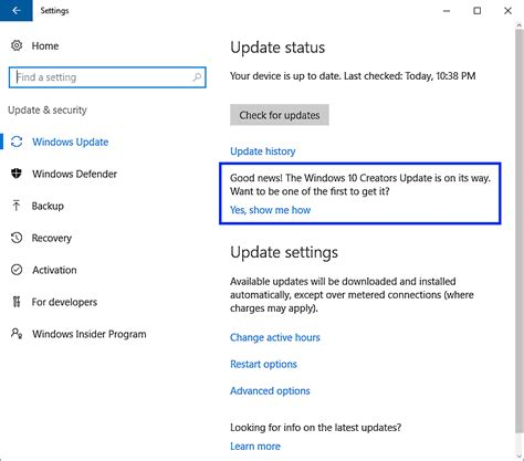 Update From La windows 10 c 243 mo tener la nueva actualizaci 243 n creators