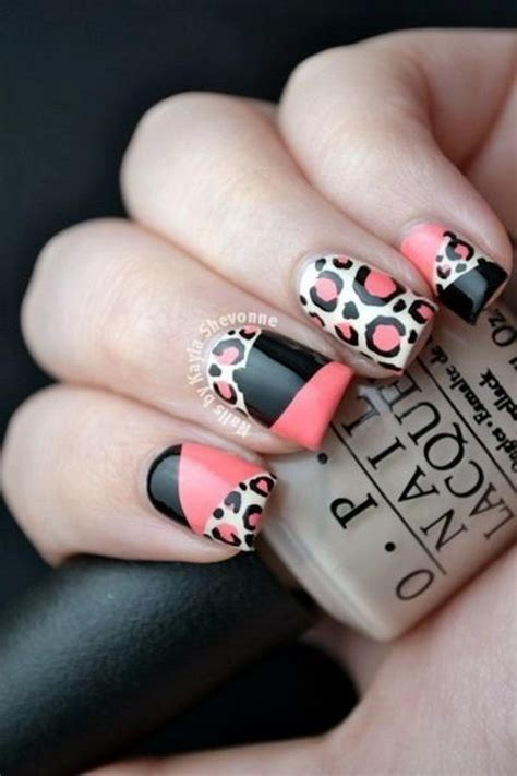15 Cheetah or Leopard Nail Designs   Hative