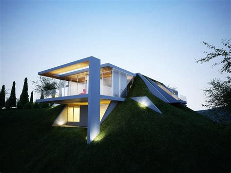 earth house tao design group home design and style creatively semi buried home rises from the earth like art