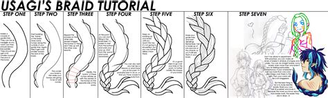 doodle drawing tutorials usagi s braid tutorial by starbunnies on deviantart