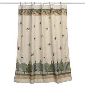 Tree Shower Curtain Bed Bath And Beyond pine cone branches fabric shower curtain bed bath amp beyond