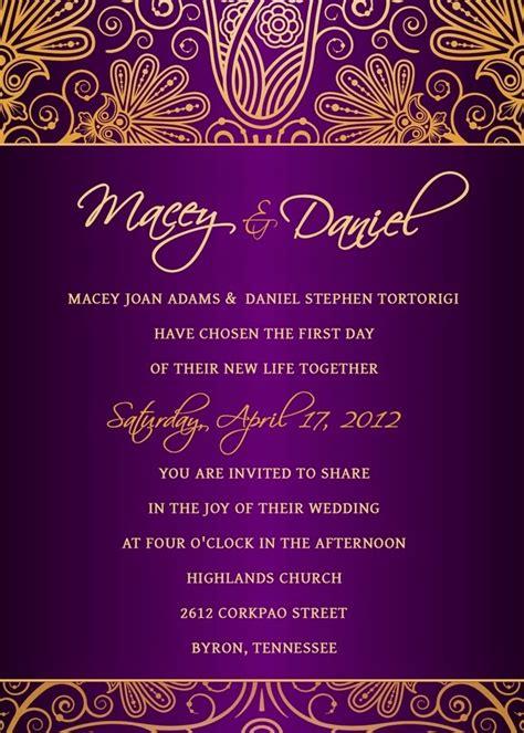 purple and gold wedding invitations purple and gold wedding ideas wedding stuff ideas