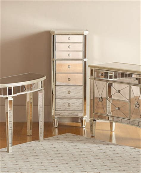 Macys Mirrored Furniture marais accent furniture collection mirrored furniture