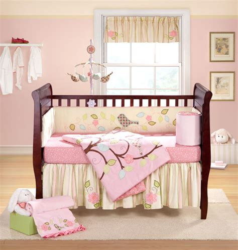 bananafish 5 piece baby nursery crib bedding love bird