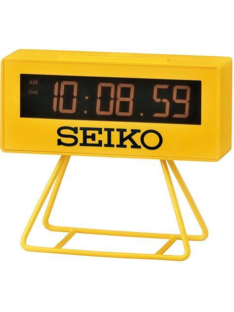 Room Decor Fancy Desktop Alarm seiko qhl062y digital alarm clock yellow products