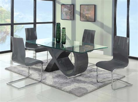 modern dining table chairs luxury modern glass dining table tedxumkc decoration