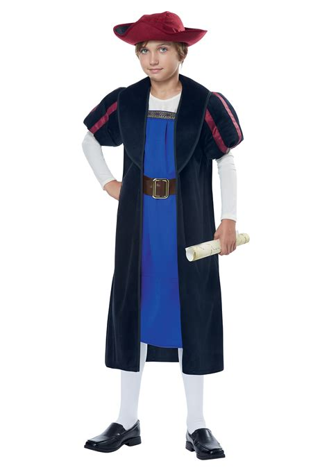 in costume child christopher columbus explorer costume