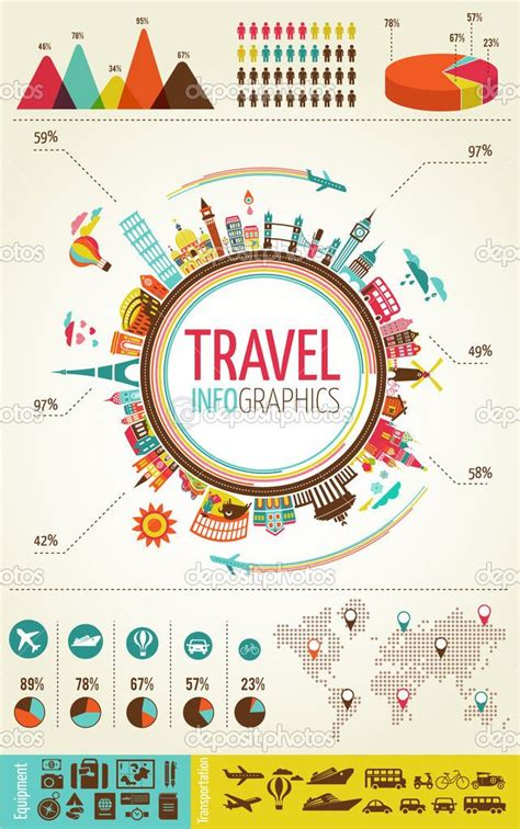 layout artist information travel and tourism infographics with data icons elements