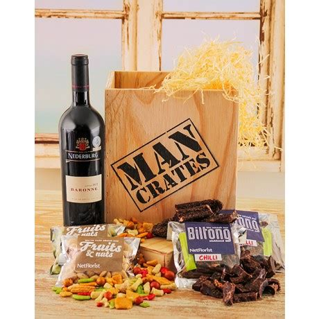 christmas baskets in south africa durban crates her wine biltong and nut her in a wooden crate s day gifts