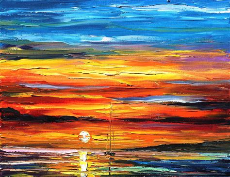 Southern Home Decor Blogs sunset painting by leonid afremov