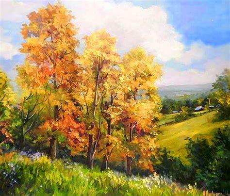 cuadros oleos paisajes cuadros de paisajes del pueblo pintados al oleo oleos en
