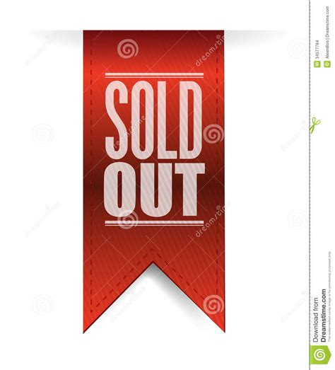design by humans sold out sold out textured banner illustration design stock images