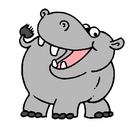 imagenes infantiles hipopotamo dibujo de hipop 243 tamo pintado por hipopotamo en dibujos net