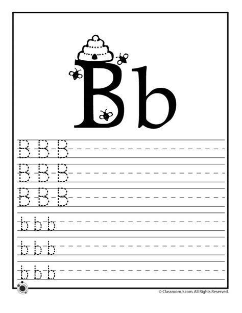 Letter B Worksheets by Learn Letter B Woo Jr Activities
