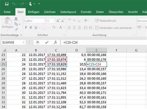 Excel Format Zeit Millisekunden | millisekunden in excel zellen richtig formatieren