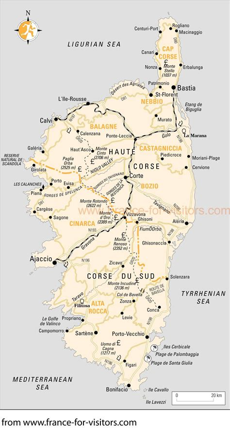 corsica map large corse maps for free and print high resolution and detailed maps