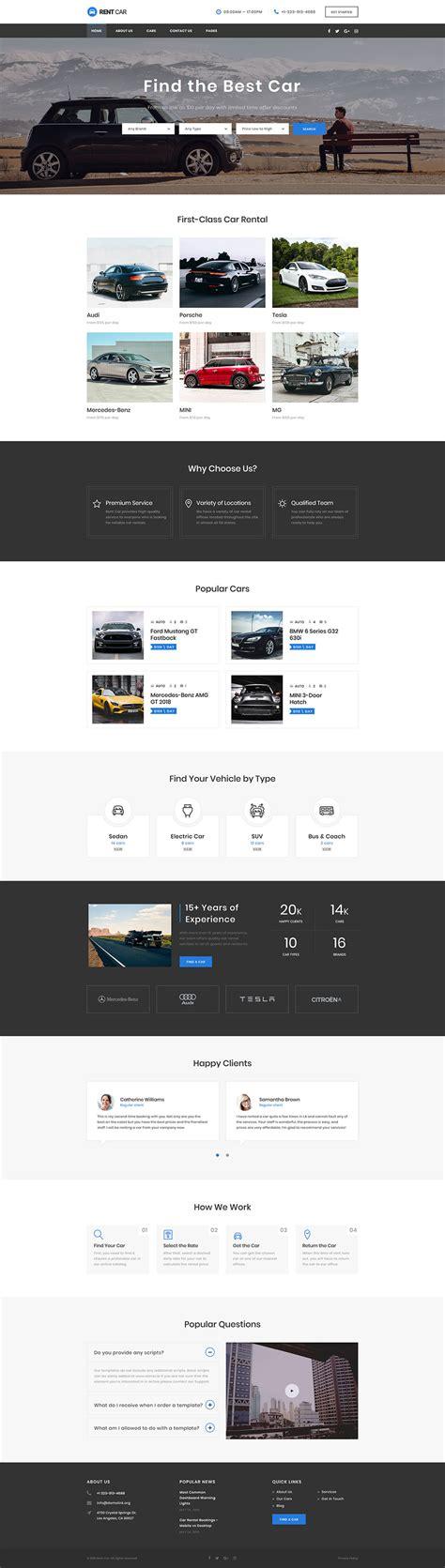 Car Rental Responsive Website Template 48656 Rental Website Templates