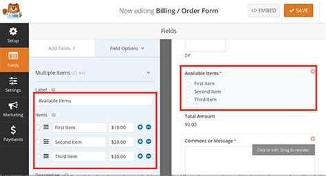 simple order form how to create a simple order form in step by step