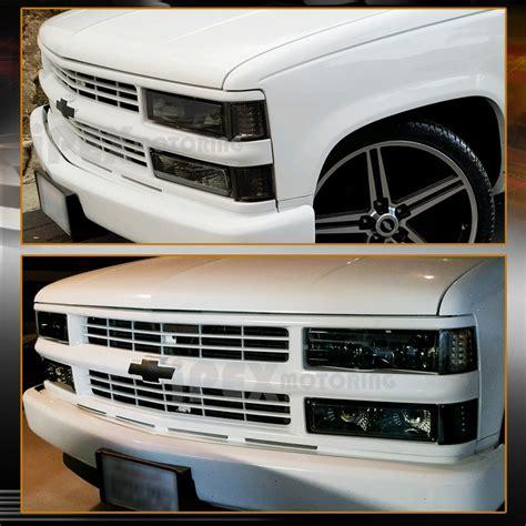 1998 chevy silverado lights 1994 1998 chevy silverado tahoe smoke headlights combo w