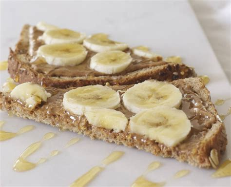 Krimu Banana Toast Almond banana almond butter toast community eats