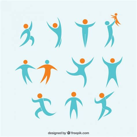 abstract people logos vector