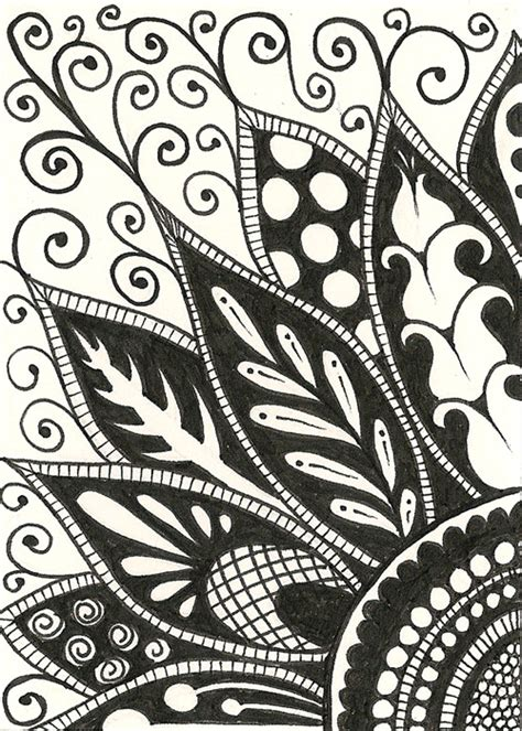 how to draw zentangle flowers google search art 120305 zendoodle 1 jpg 500 215 700 pixels drawings