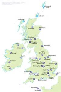us map showing airports international airports throughout the uk and ireland
