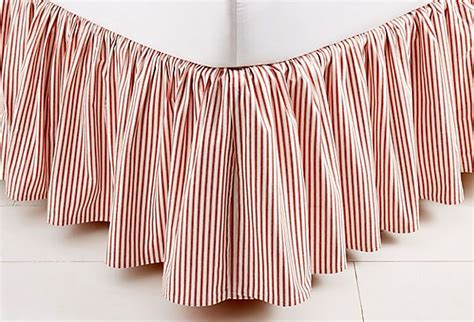 red bed skirt ticking bed skirt red