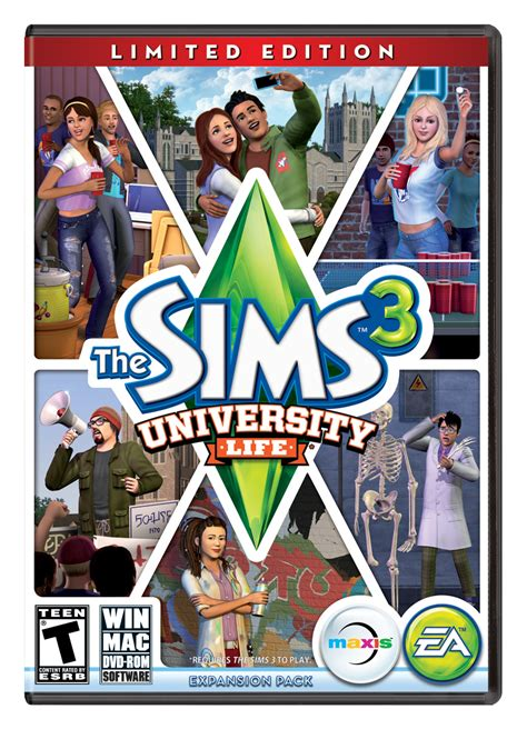 Sims 3 Gift Card - ea announces the sims 3 university life expansion pack