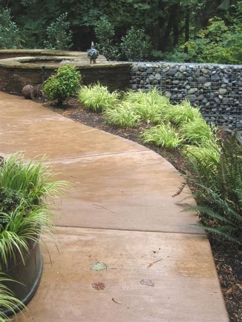 stained concrete walkway river house ideas pinterest