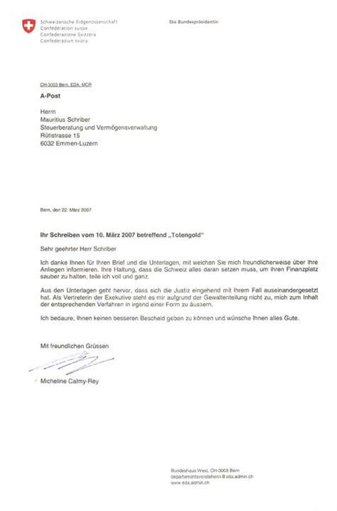 Brief Schweiz Die Kriminelle Energie Banken