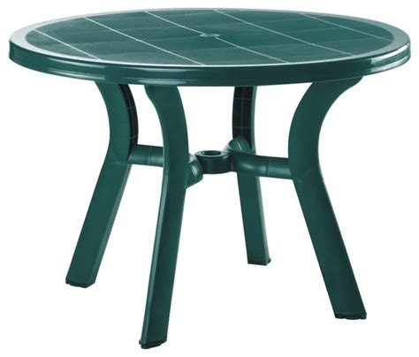 plastic outdoor dining table truva resin dining table 42 inch contemporary