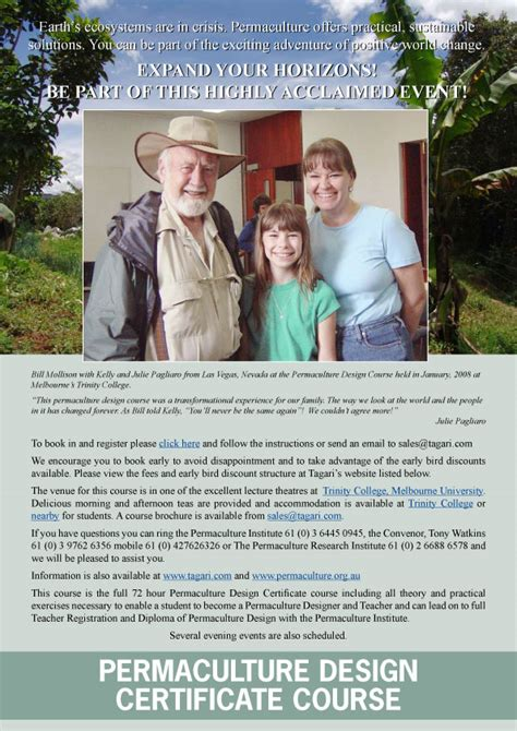permaculture design certificate jobs bill mollison and geoff lawton at it again the