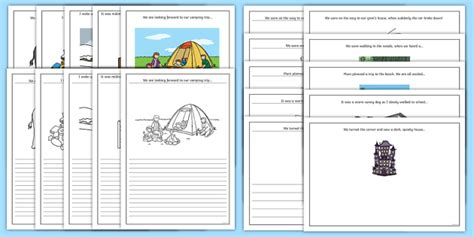 new year story writing frames story starter and picture writing frames narrative journal