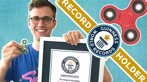 World Records We The Fidget Spinning World Record