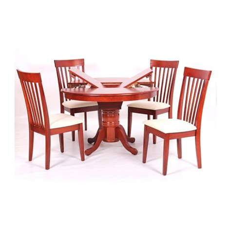 Rubberwood Dining Table And Chairs Leicester Extending Solid Rubberwood Dining Table With 4 Chairs Cheap Home Furniture