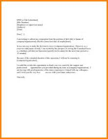 Resignation Letter From by 6 Employee Resignation Letter From Employer Joblettered