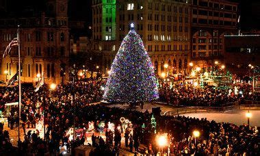 central new york christmas tree lighting ceremonies fun