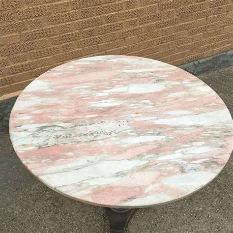 Custom Table Top Vintage Art Deco Round Pink Marble Caf 233 Table Cityfoundry