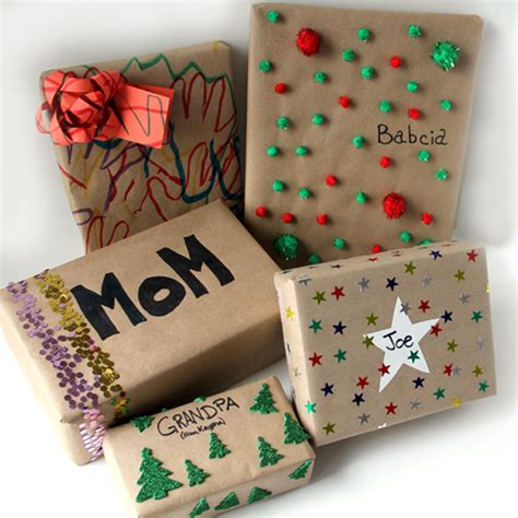 wrapping gifts five ways to wrap presents with kids that still look