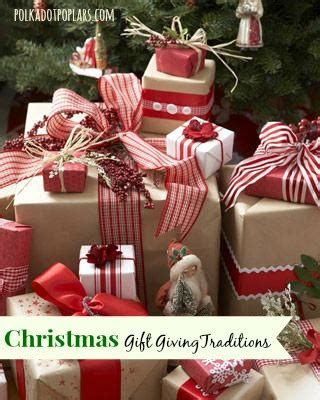 christmas gift giving traditions
