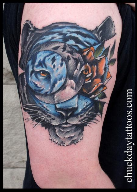 tiger and rose by chuck day tattoonow