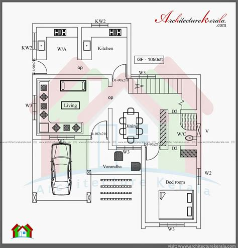 Three Bedroom Two Storey House Plan Architecture Kerala 3 Bedroom House Plan Kerala