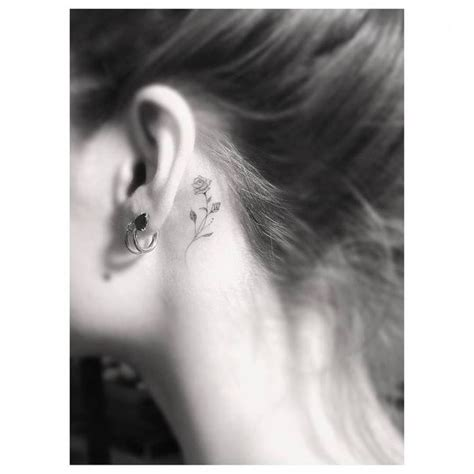 behind the ear rose tattoo best 25 small tattoos ideas on